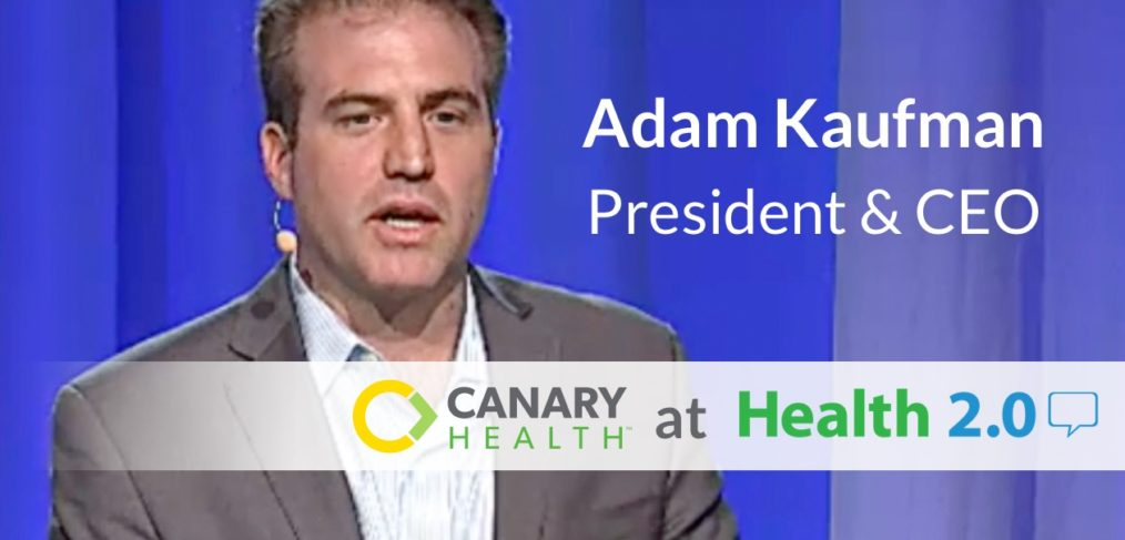Adam Kaufman, CEO Canary Health, demos online Better Choices, Better Health self-management program