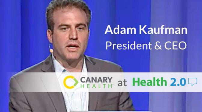 Canary Health Demos Digital Self-management Program at Health 2.0