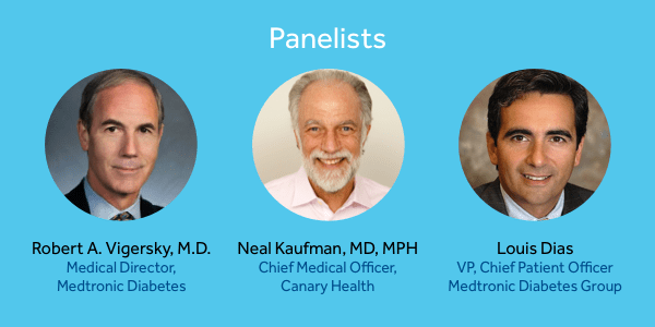 Panelists for Medtronic outreach to outcomes webinar